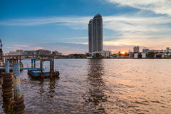 Chao Phraya River the evening. Stock Images