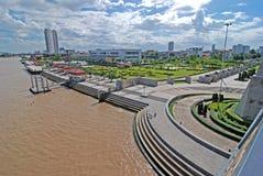 Chao Phraya River.gaden Stockfotografie