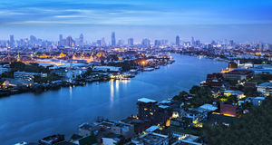 Chao Phraya River,Grand Palace,Bangkok,Thailand Stock Photography