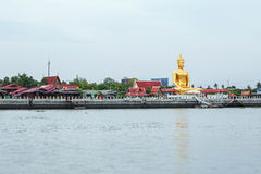 Chao Phraya river at Koh Kret Stock Image