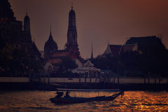 Chao Phraya River Longtail Boat Photographie stock