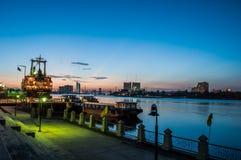 Chao Phraya River-mening Stock Afbeeldingen