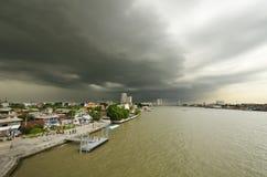 Chao Phraya River and nimbus o Stock Photos