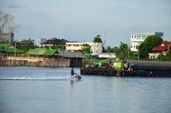 Chao Phraya River at Nonthaburi Thailand Stock Photos