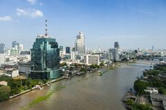 Chao Phraya river Royalty Free Stock Image