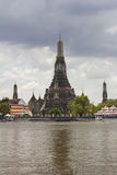 Chao Phraya river  during the worst flooding Royalty Free Stock Photos