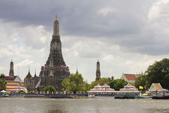 Chao Phraya river  during the worst flooding Royalty Free Stock Photo
