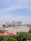 Chao Phraya riverside view from Dawn temple pagoda Stock Image