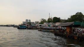 Chao Phraya Rzeczna łódź Fotografia Royalty Free