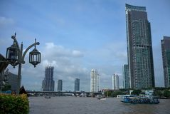 Chao Phraya rzeka Bangkok Obrazy Royalty Free