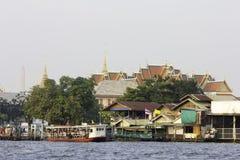 Chao Phraya rzeka, Bangkok Zdjęcie Royalty Free
