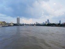 Chao Phraya rzeka, Bangkok Tajlandia zdjęcia stock