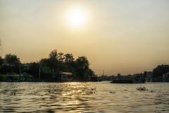 Chao Phraya rzeki sceneria obrazy stock
