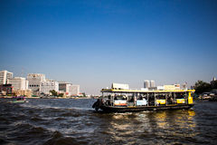 Chao Praya Boat. Boat in the middle of Chao Praya River,Thailand Stock Images
