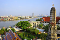 The Chao Praya River in Bangkok Royalty Free Stock Images