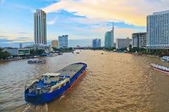 Chao Praya River Bangkok, Thailand Fotografering för Bildbyråer