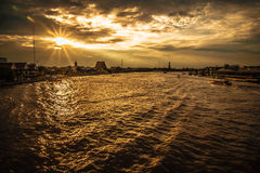 Chao Praya River Bangkok Royalty Free Stock Photo