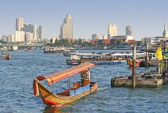 Chao Praya River In Bangkok Stock Photography