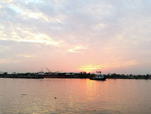 Chao Praya rzeka w Bangkok Tajlandia Obraz Stock