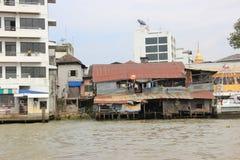 Chao Praya shore. Poor building near Chao Praya river in Bangkok Thailand Stock Photos