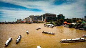 Chao rzeka Phraya Obraz Royalty Free