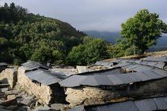 Chao Samartin - Spain. View Castro archaeological site  Chao Samartin  GRANDAS DE SALIME  Asturias SPAIN Royalty Free Stock Images