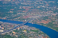Chaophaya river. Chaophraya River flows through the city Royalty Free Stock Images