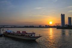 Chaophaya the river of life. In bangkok Stock Photo