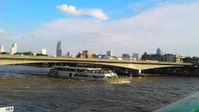 Chaophaya River and Pra Pok Klao Bridge. Bangkok, Thailand Royalty Free Stock Image
