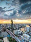 Chaophraya-Fluss, Bangkok Lizenzfreies Stockbild