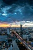Chaophraya-Fluss, Bangkok Stockfotos
