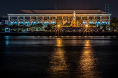 Chaophraya River. Description: The Chao Phraya is the major river in Thailand with its low alluvial plain forming the centre of the country. It flows through royalty free stock images