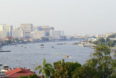 chaophraya river view Royalty Free Stock Photo