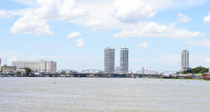 Chaophraya river view  Royalty Free Stock Images