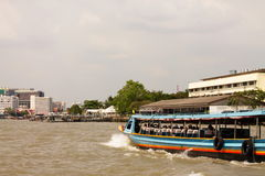 chaophrayaflod Arkivfoto