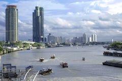 chaopraya河生活和文化  曼谷泰国 免版税库存照片