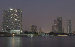 Chaopraya河的看法 库存照片