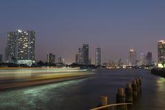 Chaopraya河的看法 免版税库存照片