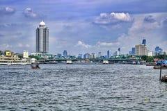 Chaopraya河 库存照片