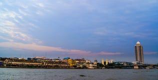 Chaopraya-Fluss, Bangkok, Thailand Lizenzfreie Stockfotografie
