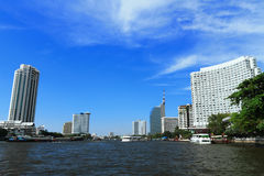 Chaopraya river in Bangkok Royalty Free Stock Image