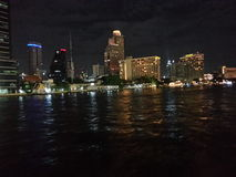 Chaopraya river at night Stock Photography
