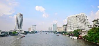 Chaopraya riverside, Bangkok Royalty Free Stock Image
