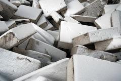 Chaos. Building blocks chaos covered with the snow Royalty Free Stock Photo