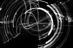 Chaos. Abstract fun in the night time Stock Photography