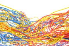 Chaos abstrait dans le réseau de bureau Photographie stock libre de droits