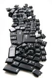 Chaos black keyboard keys Stock Image