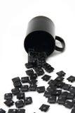 Chaos black keyboard keys in the pot Stock Photo