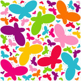 Chaos butterflies Stock Images