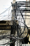 The chaos of cables and wires Royalty Free Stock Photography